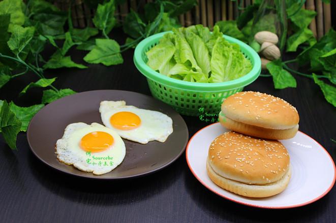 煎蛋汉堡的简单做法