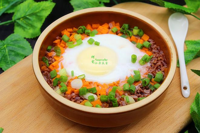 太阳蛋红米蒸饭成品图