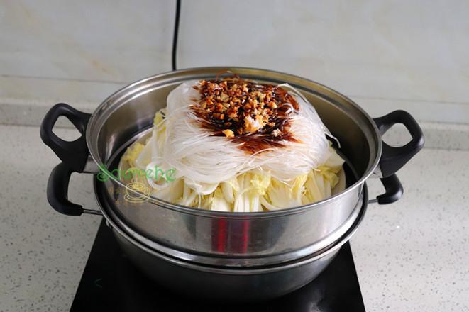 大白菜蒸粉丝怎么做