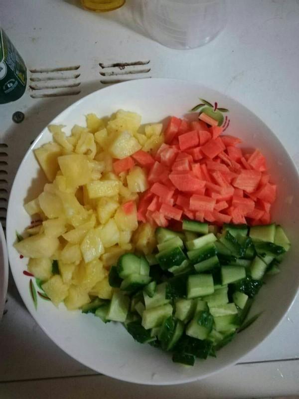 菠萝炒饭的做法图解