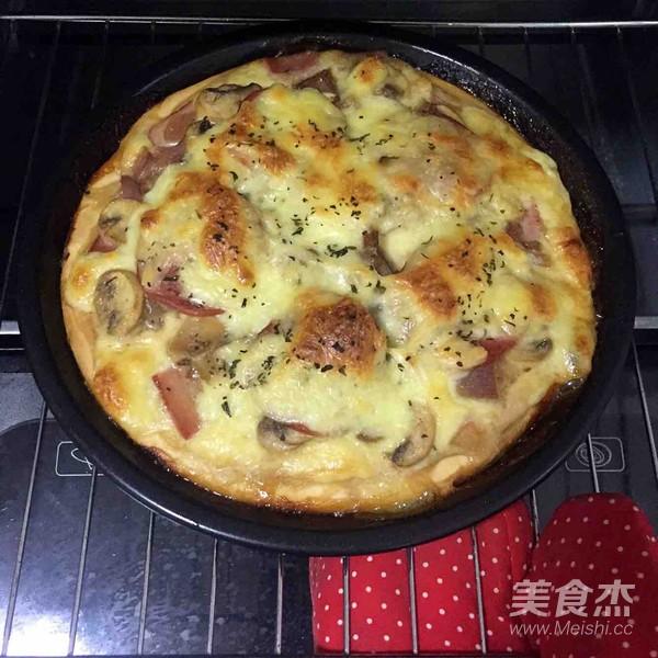 蘑菇培根披萨(8寸)的制作方法