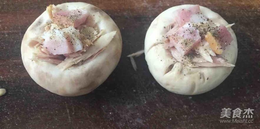 吞拿鱼烤蘑菇的简单做法