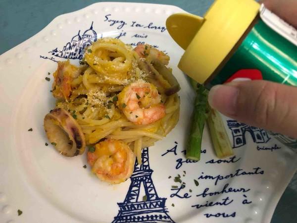 南瓜汁海鲜意面怎样做